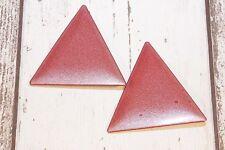 Ohrclips NEU Ohrringe clips Dreieck groß breit XL rot glitzer hip style