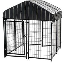 Dog Crates and Kennels Chain Link Kennel Outdoor Xxl For Extra Large Dogs Cage