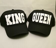 couples king and queen cap hat 5 panel black swag dope cute set funny matching