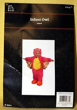 Girl Infant Halloween PINK PLUSH OWL Costume Size S (6-12 months) NEW