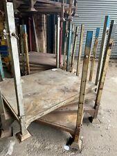 More details for heavy duty metal stillage metal post pallet, stackable, storage, heavy duty
