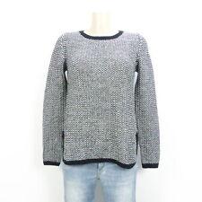 HALLHUBER Pullover Strick Knit Schwarz Weiß Gr. S 36 (DD167)