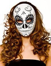 Klassische Dia de los Muertos Maske NEU - Karneval Fasching Maske Gesicht