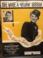 She Wore A Yellow ribbon (Round Her Neck) Vintage 1949  Sheet Music John Wayne