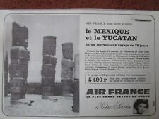 12/1965 PUB AIR FRANCE AIRLINE HOTESSE DE L'AIR MEXIQUE MEXICO YUCATAN FRENCH AD