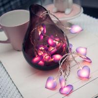 1Pcs LED String Lights Heart Shape Hanging Wedding Party Bedroom Festivals Decor