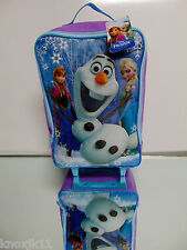 "NEW Disney FROZEN ANNA ELSA & OLAF 20"" SUITCASE ROLLER BAG Travel Luggage Wheels"