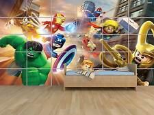LEGO MARVEL AVENGERS HEROES POSTER MASSIVE HUGE ROOM KIDS SALLE DE JEUX ENFANTS
