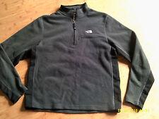 Mens Charcoal/Black NORTH FACE Light Fleece PULL OVER Jacket SHIRT Large