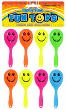 PACK OF 8 MINI SMILEY MARACAS 7 CM KIDS TOY BIRTHDAY PARTY BAG FILLER