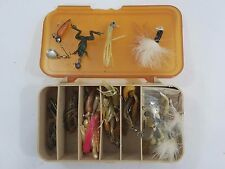 Vintage Box of Fishing Tackle Lures Hooks Bait