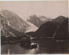 Knudsen. Norvège, Bondhusareen I Mauranger Vintage albumen print.  Tirage albu