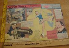 Sonja Henie Wallace Berry Seein' Stars Feg Murray Sunday 1940s color panel 6j