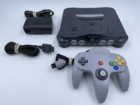 Original Nintendo 64 Console Bundle N64 Controller Cables TESTED READ!!! NUS-001