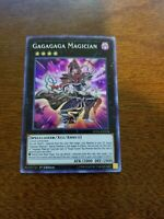YuGioh Gagagaga Magician NM (1st Ed.) LED6-EN034 Super Rare Card