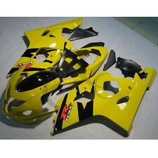 Yellow INJECTION Plastic Fairing Bodywork For SUZUKI GSX-R GSXR 600 750 04-05