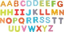 Funky Fun Colourful Wooden Magnetic Alphabet Letters Fridge Magnet Toy