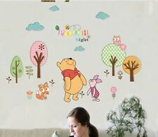 Winnie The Pooh Owl Piglet Wall Stickers Decal Removable Nursery Baby Decor Art
