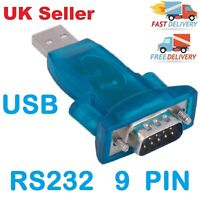 USB 2.0 to RS232 Serial Port DB9 9 Pin Male Converter Adapter Win7/8/2000/XP Mac