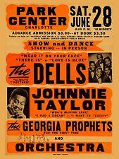 """Dells / Johnnie Taylor Park Centre 16"""" x 12"""" Photo Repro Concert Poster"""