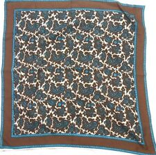 """Robinson Golluber Ladies Polyester Scarf 21"""" X 21"""" Multiple Color Paisley"""