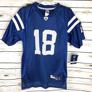 New Reebok Peyton Manning 18 Blue Jersey Youth Size XL Extra Large