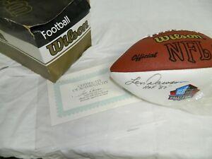 LEN DAWSON Kansas City Chiefs Singed Wilson Football Steiner Sticker
