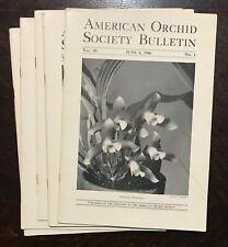 AMERICAN ORCHID SOCIETY BULLETIN, Original 1946 Issues (5 Journals) JUNE-OCTOBER
