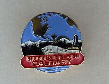 Calgary Alberta Canada Neighbors of the World Lapel Hat Souvenir Pin