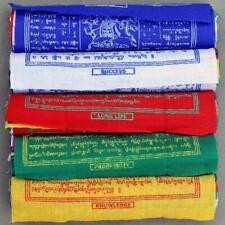 "50 pieces 6.7""x6.3"" Cotton Tibetan PRAYER FLAGS mantra printed WIND HORSE Lungta"