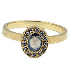 14k Yellow Gold Rose Cut Oval Diamond Ring