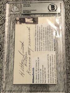 Hilton Smith Autograph Signature Index Card.  Negro Leagues Monarchs HOF.