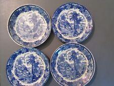 Antique Plate Blue Occupied Japan Maruta China Saucer set of 4