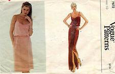1970's VTG VOGUE Misses' Dress Pattern 7672 Size 10