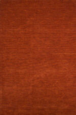 Alfombras de color principal naranja 100% lana para pasillos
