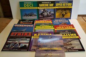 Collection 13x Osprey Air Combat, Superbase, Aerospace books.