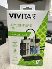 VIVITAR 2-in-1 power pack for go-pro hero 4 batteries and all usb devices