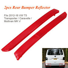 2x Red Lens LH&RH Rear Bumper Reflector Light Lamp For Volkswagen T5 T6 2012-16