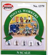 Model Power Postal Workers (9 items) Ready to Use - 1379 - N Gauge