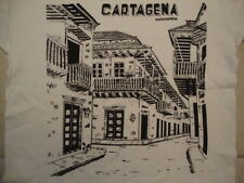 Cartagena Columbia Port City Souvenir White Cotton T Shirt Size XL