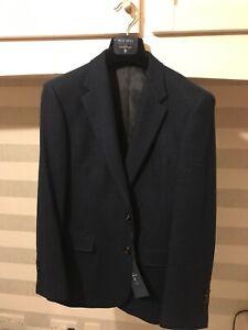 Ermenegildo Zegna Navy Wool & Cashmere Blazer Jacket - Size 38S