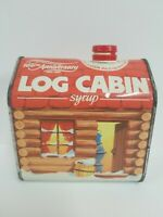 Log Cabin Syrup Tin Can 100th Anniversary 1887-1987 Advertising Vintage Empty