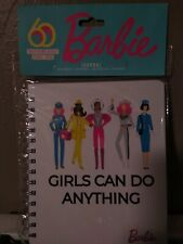 """Barbie """"Girls Can Do Anything� Journal Diary Notebook 60 Years Young Girls"""