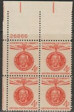 Scott# 1174 - 1961 Commemoratives - 4 cents Mahatma Gandhi Plate Block (B)