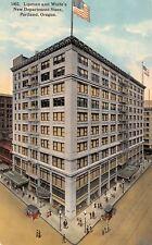 Portland Oregon~Lipman & Wolfe Department Store~Ladies on Street~1912 Postcard