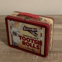 SHIPS SAME DAY Chocolaty Tootsie Roll Tasty Collectible Tin Metal Lunch Box 1997
