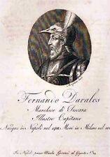 Pescara Condottieri Fernando d'Avalos  Regno Napoli