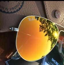 NEW  RAY BAN AVIATOR RB3025 112/4D 58mm POLARIZED ORANGE MIRROR
