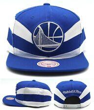 Golden State Warriors New Mitchell & Ness Slash Blue White Era Snapback Hat Cap