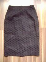 Rock schwarz-grau Size M UK 12 US 8 Bleistiftrock im Look der 40er Jahre